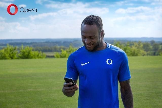 OPERA MINI MAKES NIGERIA'S FOOTBALLER, VICTOR MOSES BRAND AMBASSADOR