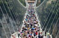 WORLD'S LONGEST FLEXI BRIDGE BRINGS 2 COMMUNITIES TOGETHER