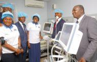 MRS AMBODE COMMISSIONS ICU, DONATES AUDITORY EQUIPMENT TO HOSPITALS