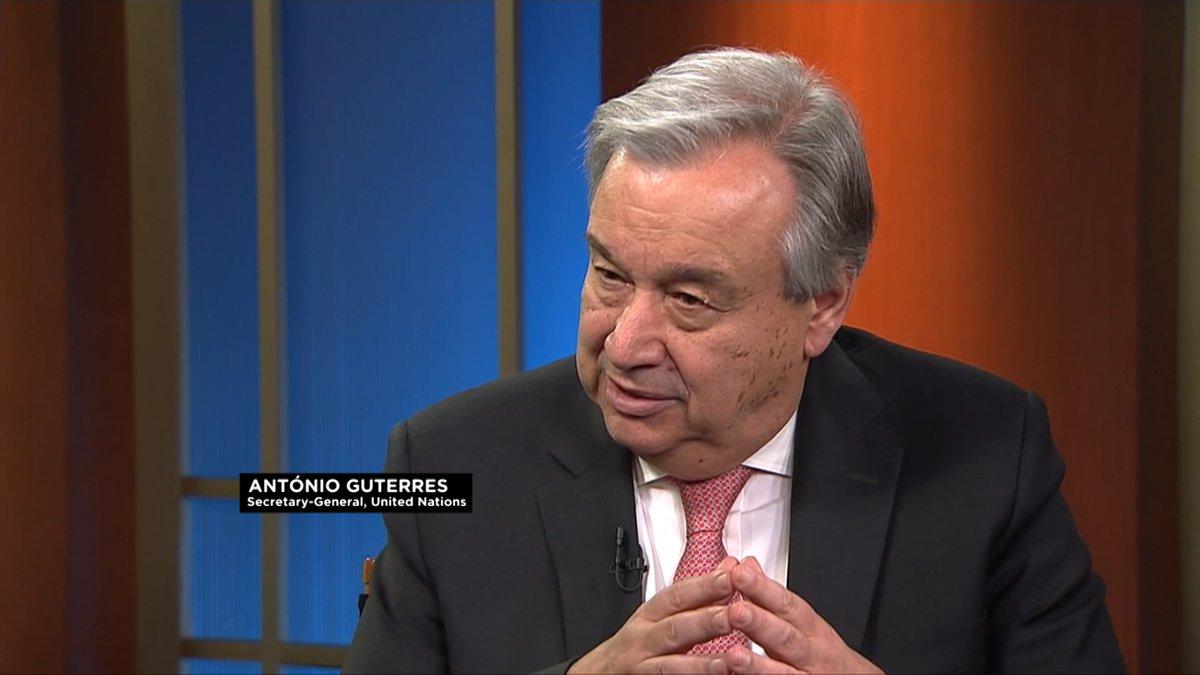 U.N CHIEF, ANTONIO GUTERRES TALKS PEACE, SECURITY IN AFRICA IN AN EXCLUSIVE INTERVIEW