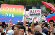 LESBIANS, GAY IN WILD PROCESSION, CALL FOR SAME SEX MARRIAGE IN TAIWAN