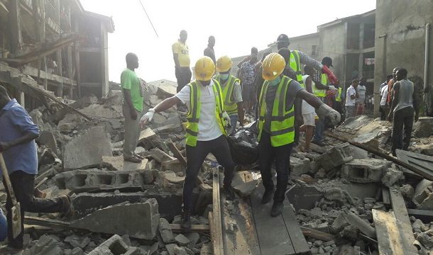 8 PEOPLE RECOVERED DEAD, 15 RESCUED ALIVE FROM COLLAPSED LAGOS BUILDING