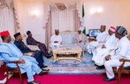 BUHARI RECEIVES DELEGATION OF GOVERNORS FORUM IN LONDON