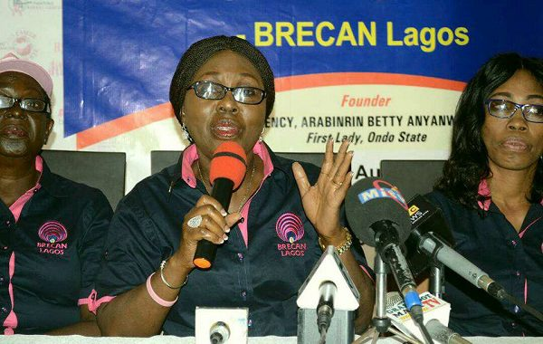 BETTY AKEREDOLU INAUGURATES BRECAN LAGOS, SEEKS SUPPORT FOR BREAST CANCER PATIENTS