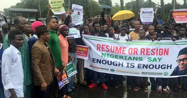 100 DAYS OF ABSENCE: NIGERIANS IN U.K CONDEMN  ALLEGED INVASION OF RESUME OR RESIGN CAMPAIGNERS IN  WUSE