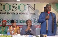 COSON STORMS RIVERS STATE FOR SELECT STAKEHOLDERS FORUM
