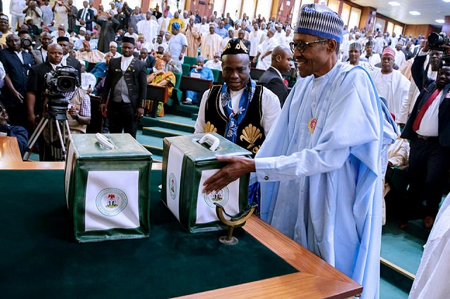 BUHARI PRESENTS N8.612 TRN  DEFICIT BUDGET OF CONSOLIDATION FOR 2018