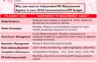 WHY YOU NEED AN INDEPENDENT PR MEASUREMENT AGENCY IN YOUR 2018 COMMUNICATION/PR BUDGET