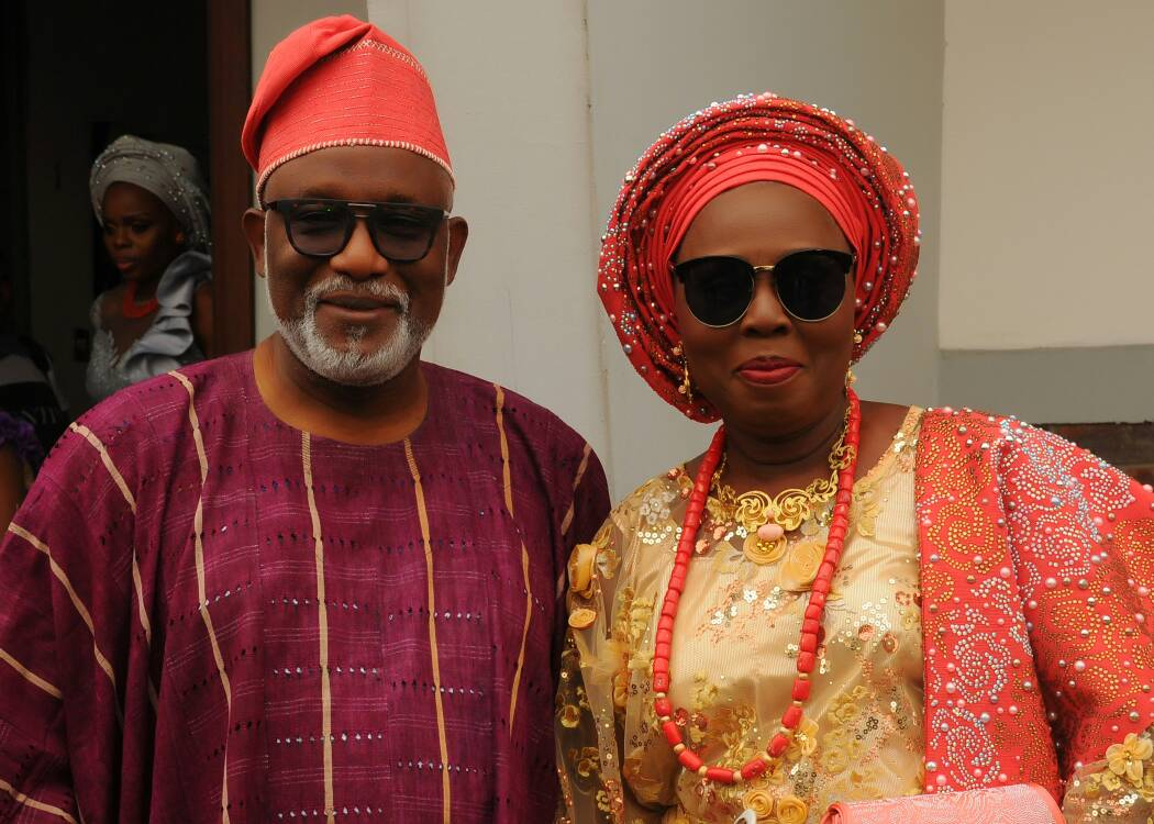 ONDO STATE GOV ROTIMI AKEREDOLU, WIFE MARK 37 YEARS OF MARITAL BLUES