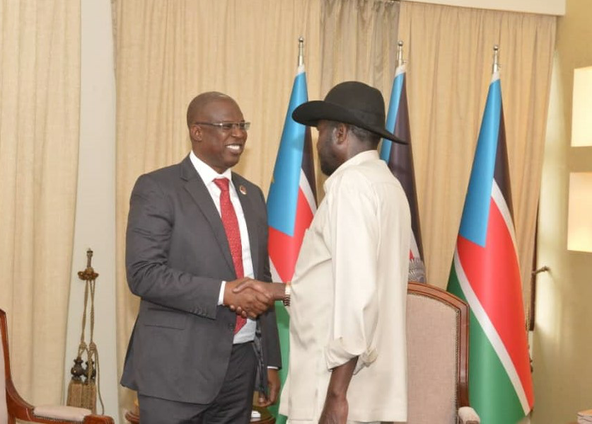 Image result wey dey for S/ Sudan President, Kiir, Lauds Buhari On Nigeria's Leading Role In APPO